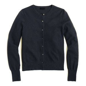 J. Crew Collection Black Italian Cashmere Cardigan